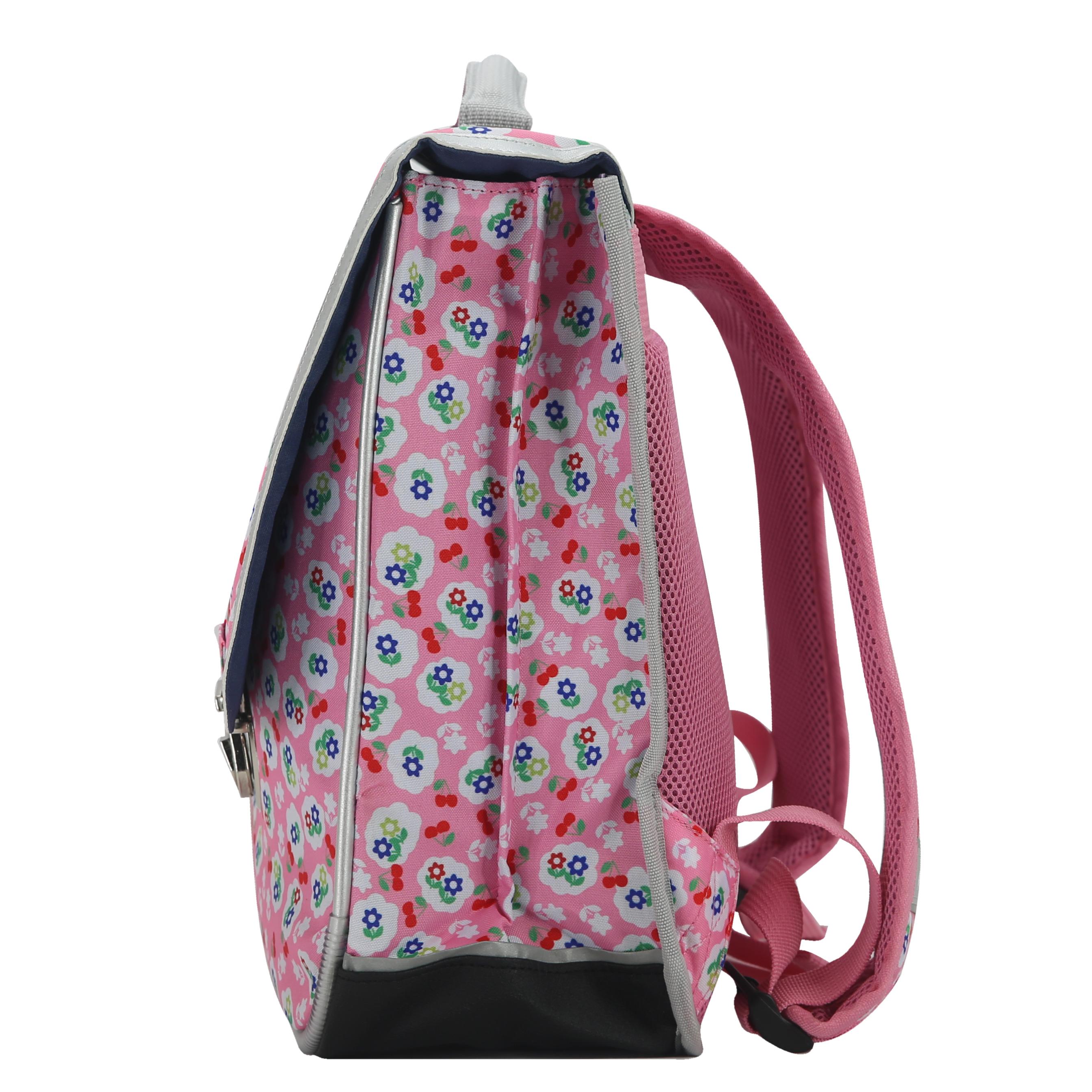 online store ada82 f39ff Cartable Miniséri - Rose à fleurs