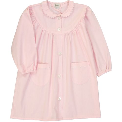 Tablier école fille, col Claudine – Rose