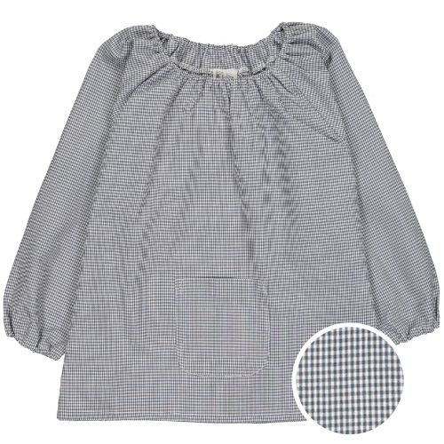 Blouse école Maternelle – Mini vichy gris