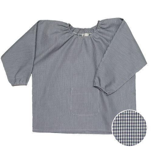 Blouse école Maternelle – Vichy gris
