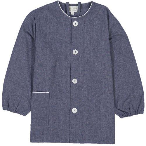 Tablier école mixte – Bleu Jean