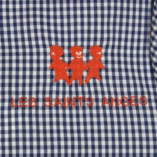 Les Saints Anges - Bis - Tablier Mixte Vichy Bleu avec logo
