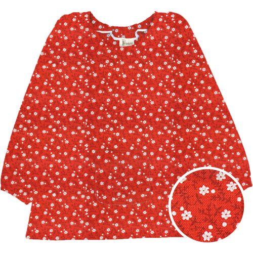 La Providence - Blouse TPS - Rouge Fleurs