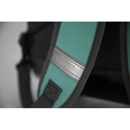 Cartable à roulette Miniséri - Vert aqua et gris