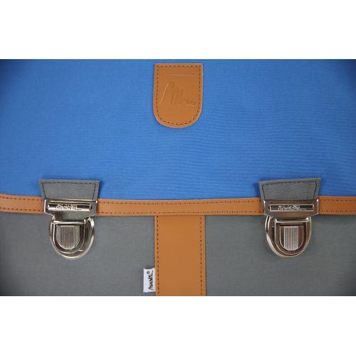 Cartable à roulettes Miniséri - Gris et bleu