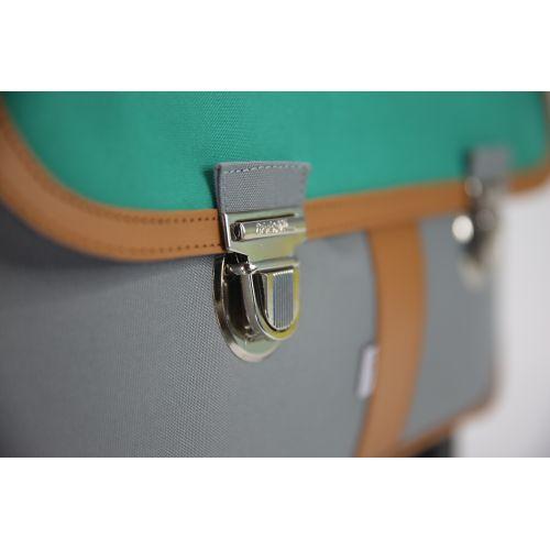 Cartable à roulettes Miniséri - Gris et vert sapin