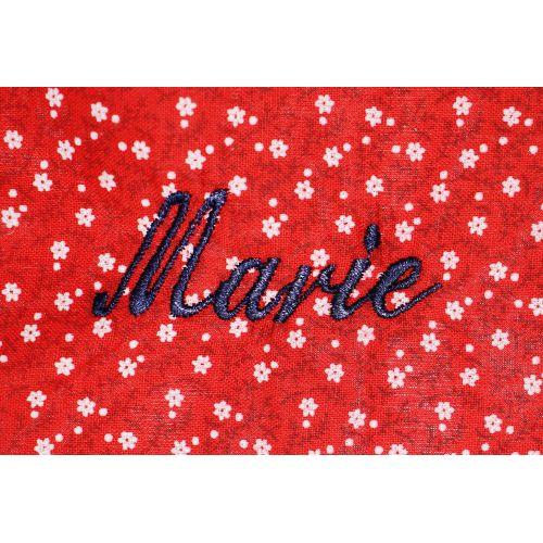 Saint Charles Notre Dame - Blouse école maternelle - Rouge fleurs