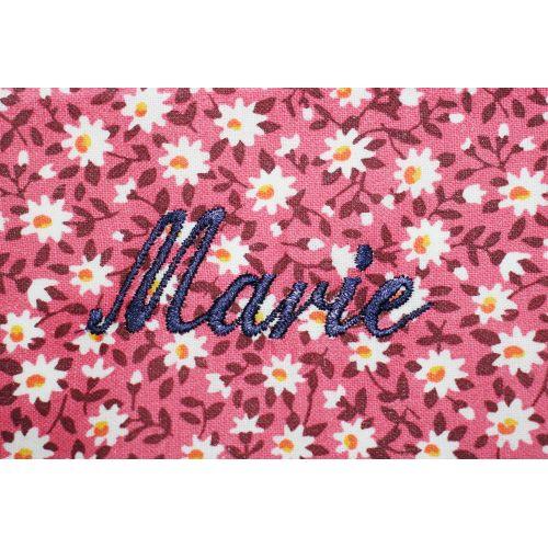 Institution Marmoutier - Tablier école fille, col Claudine – Rose Marguerite