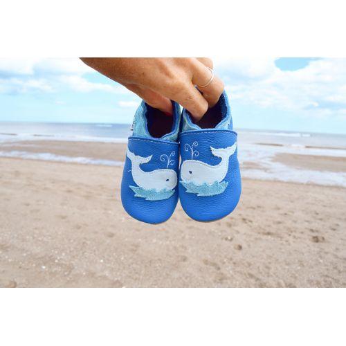 Chaussons bleu - baleine