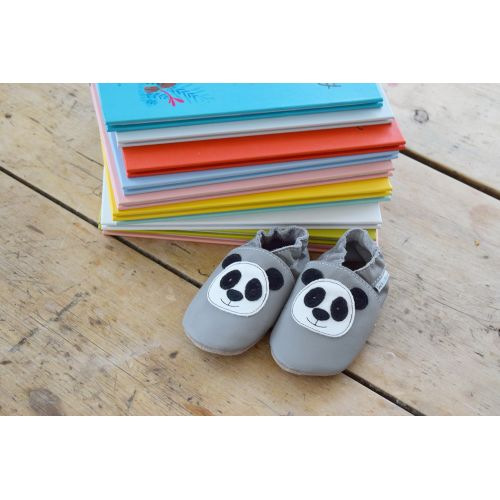 Chaussons gris - panda