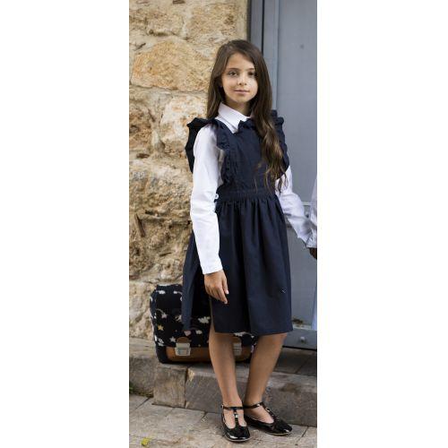 Tablier école fille, Chasuble – Marine