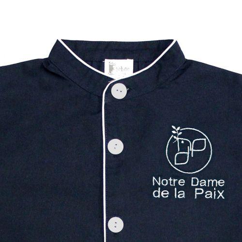 Tablier Notre Dame de la Paix - Marine